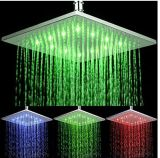 200mm Square Green/BlueかRed LED Shower Heads