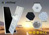6W-120W refroidissent la rue de DEL/lampe solaires complètes Integrated extérieures blanches de route