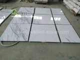 Mattonelle di marmo di pietra bianche della qualità superiore per la cucina/stanza da bagno/parete/pavimento dell'hotel