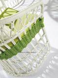 Для дешевых белого цвета в саду за круглым столом плетеной мебели обеденный стол и стул (YT893-1)