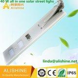3 anos Warrany de 40 W todos os LED de alto brilho em uma rua Solar Luz com o PIR