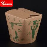 Venta al por mayor del logotipo personalizado impreso alimento almuerzo caja de papel de embalaje rápida desechable