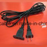 шнур питания AC утверждения 2pin Китая 1.2m CCC с IEC C7