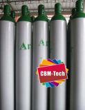 ISO9809-3 Stdの空のアルゴンのガスタンクアルゴンシリンダー弁との38リットル