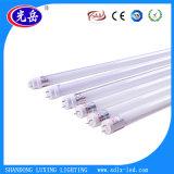 SMD2835 1200mm T8 LED 관 가벼운 18W Ra>80 100lm/W SMD2835 LED T8 유리관 빛