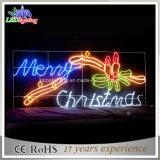 Lumière décorative de motif de Joyeux Noël de la rue 150cm avec la bougie