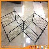 Schwarzes Puder-beschichtete Hundeläufer-Hundehütten