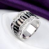 De beste Verkopende Zwarte Aantrekkelijke Ring van de Vinger van Juwelen Recentste Ontwerp Geplateerde