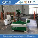 Máquina de madeira em mudança pneumática do router do CNC de quatro cortadores das cabeças