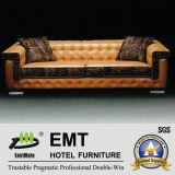 Hôtel moderne canapé canapé en cuir de vente chaude Set (EMT-SF36)