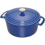 オレンジエナメルの鋳鉄はカセロールスープ在庫の鍋を覆った