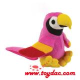プラシ天の鳥のオウムのおもちゃ