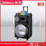 Profesional de Shinco Altavoces Inalámbricos Bluetooth Carrito Karaoke con luz LED
