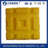 Pallet di plastica di caduta di contenimento dei due timpani per industria chimica