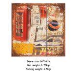 Heet verkoop Arts. van de Plaque van de Douane Retro Houten Houten Afgedrukte