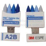 Silikon Kreide geformtes USB-Blitz-Laufwerk (S1A-6222C)