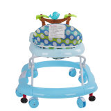 Blauer Farben-Kinderwagen und Baby-Wanderer