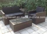 庭のソファーの柳細工の藤のテラスの家具(GN-9078-4S)