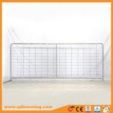 Cancello galvanizzato dell'azienda agricola del metallo con il tubo saldato del blocco per grafici