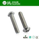 Estrella de acero inoxidable Pan / Botón / Cabeza Avellanada tornillo antirrobo con PIN