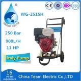 高圧洗濯機および車輪が付いているガスエンジン