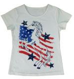 Bello Girl Vest in Children Girl T-Shirt con Lovely Eyes (SV-022)