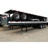 세 배 차축 평상형 트레일러 Cimc 콘테이너 트럭 트레일러