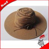 Chapéu flexível das mulheres de Sun da palha da fita
