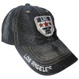 Sombrero lavado del papá de los pantalones vaqueros con Niza la insignia Gj1760