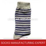 Streifen-Bambus-Socke der Männer