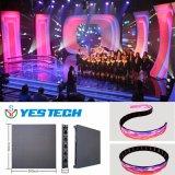 Pantalla de visualización a todo color de la cortina del peso ligero 3.9m m LED