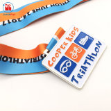 Il bottaio quadrato del metallo di figura scherza i regali del metallo della medaglia del Triathlon