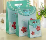 A venda por atacado e personaliza o saco coreano do presente do Natal da aleta com Bowknot bonito