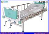 中国の手動二重機能車輪の安い病院用ベッドの製造者無し