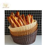 Het in het groot Hete Verkopende Hand-Woven Milieuvriendelijke Type van Opslag om de Kleurrijke Mand van het Brood van de Rotan van pp