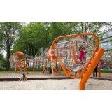 屋外の子供ロープ上昇シリーズ公園の演劇装置