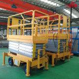 300kg 6 - 유압 12m 베스트셀러 저가는 중국 제조자에서 이동할 수 있는 상승을 가위로 자른다