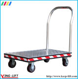 Heavy Duty PU Wheels Aluminum Platform Wheel Barrow com alça Bf3060