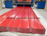 feuille ondulée galvanisée de toiture de tôle d'acier de matériau de construction de 0.125-0.8mm