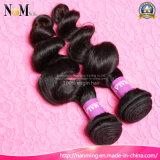Grad 7A rollt unverarbeitetes malaysisches Remy Menschenhaar das malaysische wellenförmige Jungfrau-Haar zusammen