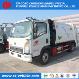 China pala trasera HOWO 8cbm compactador de la capacidad de promoción de los camiones de basura