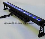 Im Freien IP65 DMX512 4in1 RGBW 14PCS 10W LED Pixel-Wand-Unterlegscheibe-Licht