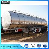 반 고품질 46m3 3 차축 연료 탱크 트레일러