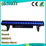 24PCS 10W RGBW 4in1屋外LEDの壁の洗濯機ライト