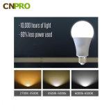 높은 효력 A60 LED 전구 7W