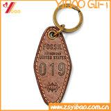 Trousseau de clés en cuir avec le logo fait sur commande (YB-LK-07)