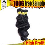 Fumiの毛のRemyのバージンのブラジルの人間の織り方