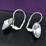 金属の合金の宝石類の銀カラー水晶のイヤリング