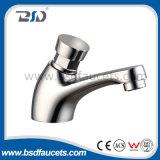 Pont de l'eau montés sur l'enregistrement de l'eau d'arrêt automatique en laiton Time-Delay Non Concussive robinet du lavabo (BSD-6003)