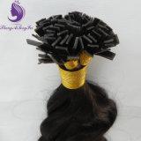 Estensione piana dei capelli della cheratina di punta di Remy di colore di #2 Brown scuro